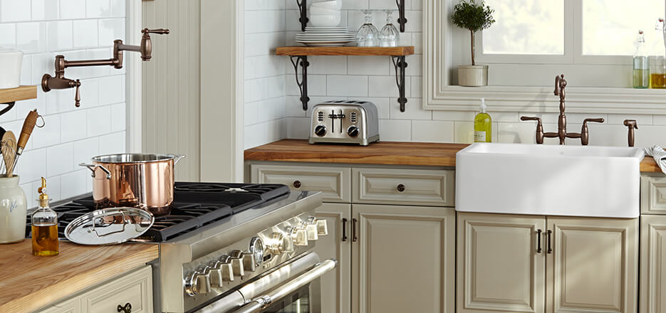 DXV Kitchen Suite with Victorian and Hillside Collections