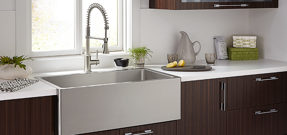 DXV Kitchen Suite with Hillside and Fresno Collections