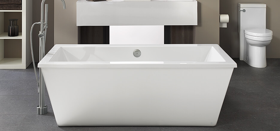 7 Faucet Finishes For Fabulous Bathrooms: Seagram Contemporary Bathroom Collection From DXV