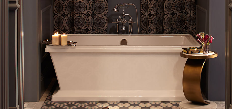 Indulgent dxv soaking tubs create the perfect personal sanctuary dxv