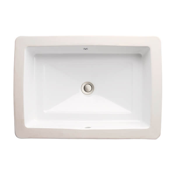 pop rectangular under counter bathroom sink