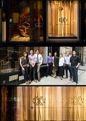 DXV Showroom Window Display by VOA Architecture
